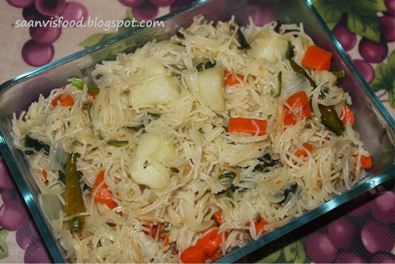 Vegetable Semiya/Vermicelli Pulao