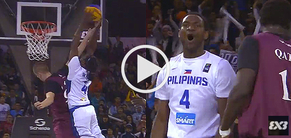 Akhuetie's NASTY Tomahawk Poster Dunk (VIDEO) FIBA 3x3 All Stars 2015