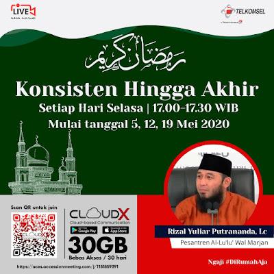 kajian online rutin Ramadhan Konsisten hingga Akhir bersama Ustadz Rizal Yuliar Putrananda