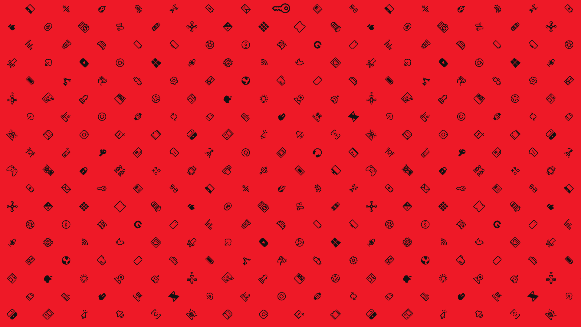 mkbhd red icons desktop wallpaper