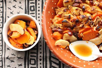 patate douce et pomme en dessert