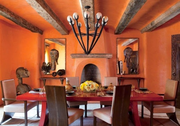 Diseño comedor chimenea