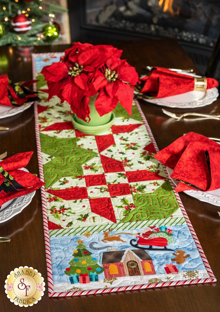 Holly Table Topper Quilt Pattern PDF Digital Download Christmas Decor
