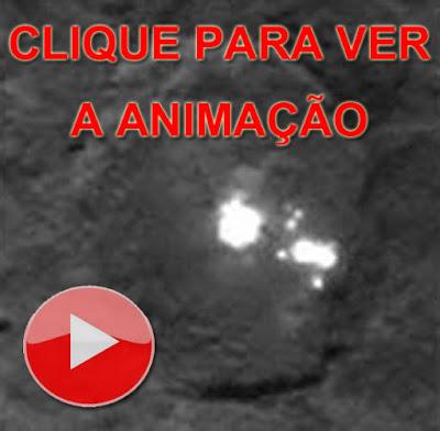 animação manchas brancas em Ceres