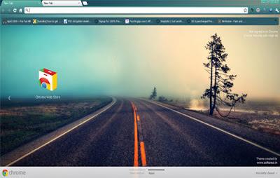 Cool Road Google Chrome Theme