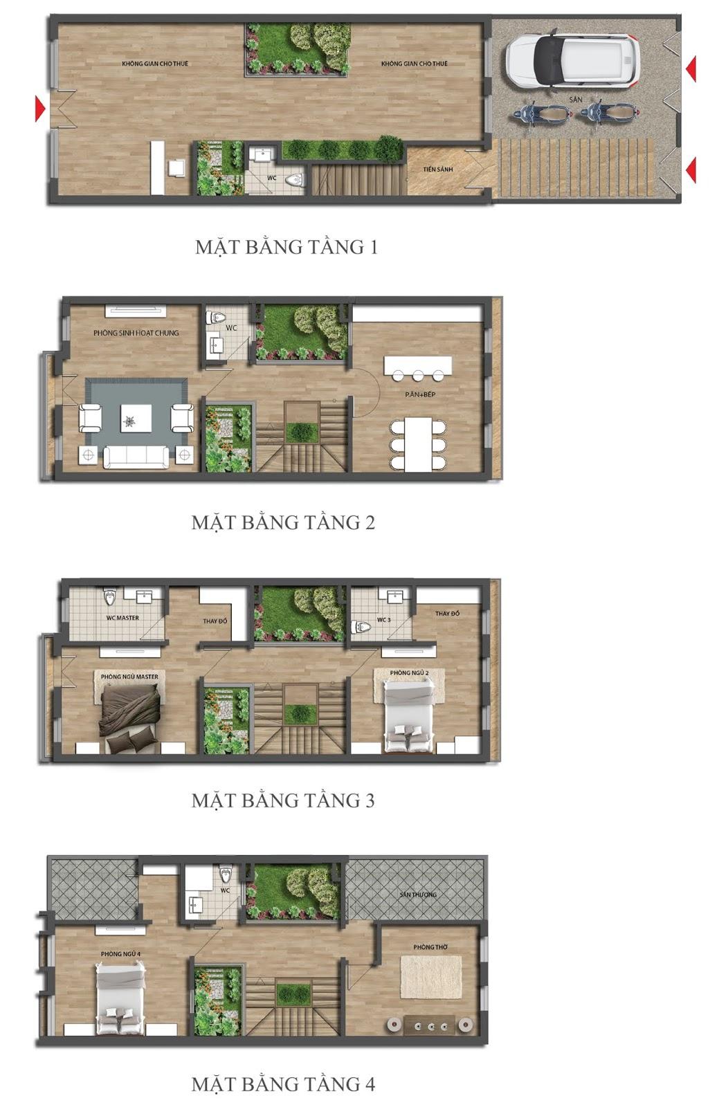 Thiết kế mặt bằng kinh doanh - Shophouse Embassy Garden mẫu SV01