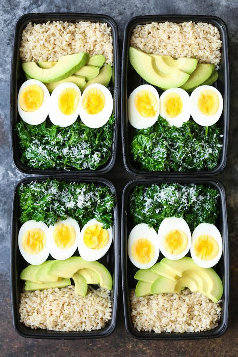 Jump start your mornings with the healthiest, filling breakfast ever! Loaded with brown rice, avocado, eggs and kale.