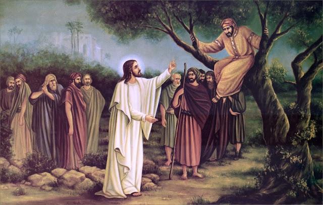 Resultado de imagem para JESUS E ZAQUEU