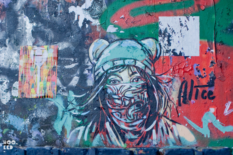 Alice Pasquini - Street Art on Pedley Street