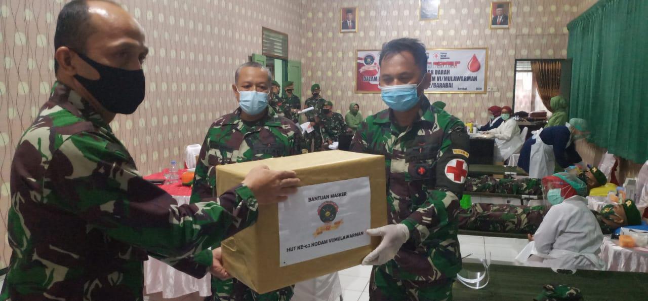 Mulawarman Peduli, Kodim Barabai Gelar Donor Darah Sambut HUT ke-62 Kodam VI/Mlw