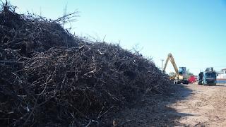 Μάτι: Καθαρίζουν το οικόπεδο με τους 20.000 τόνους καμμένων υλικών