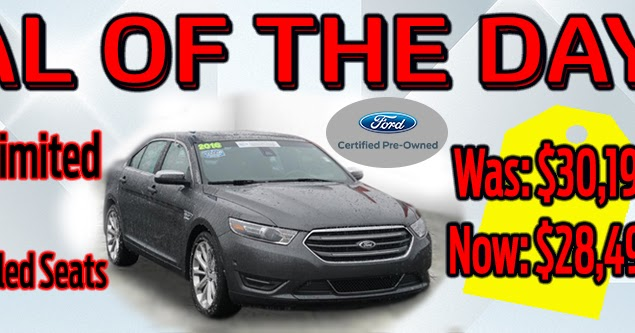 brighton ford deal of the day 2016 ford taurus limited for sale near howell. Black Bedroom Furniture Sets. Home Design Ideas