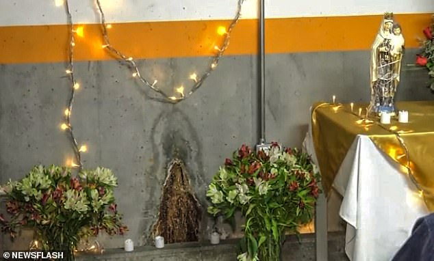 Dianggap Mirip Bunda Maria, Warga di Kolombia Sembah Noda Tembok