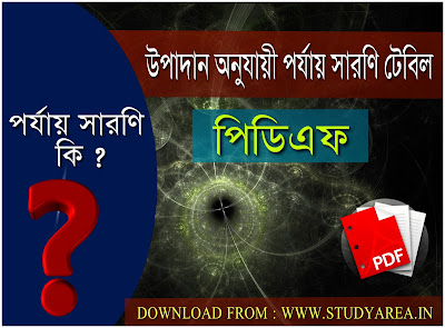 Periodic Table of The Element's in Bengali Pdf