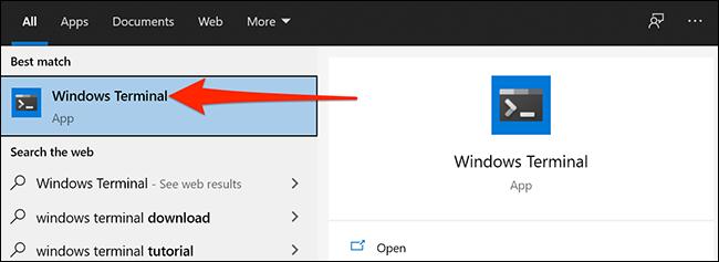 قم بتشغيل Windows Terminal