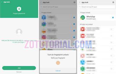 2 Cara Mengunci Whatsapp Tanpa Aplikasi di Xiaomi Redmi dan Redmi Note