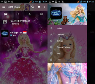 BBM MOD Barbie Special Editon for Android