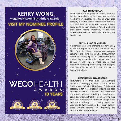 2021 WEGO Health Awards Nominee