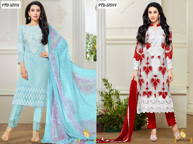 Karishma Kapoor embroidery salwar kameez and dreses for wedding party in discount sale