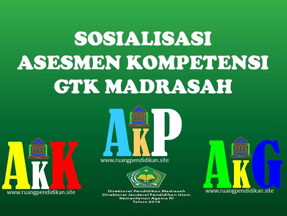Sosialisasi Pendaftaran Program Asesmen Kompetensi GTK Madrasah