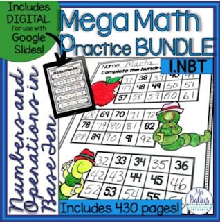 Mega Math Practice Place Value Bundle with all place value standards