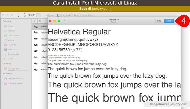 Cara Install Fonts di Linux