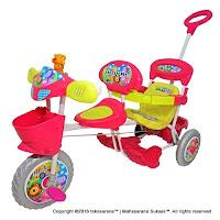 Royal RY1098 Classic Baby Tiger Sepeda Roda Tiga 2 Kursi