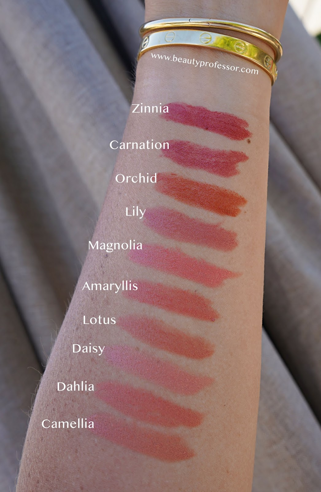 Wayne Goss lip collection swatches