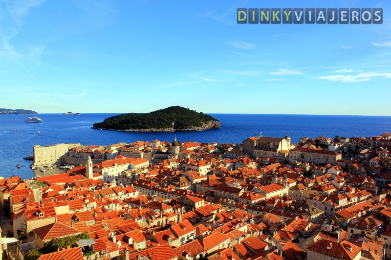 Qué ver en Dubrovnik. Vistas del Puerto Viejo y la isla de Lokrum