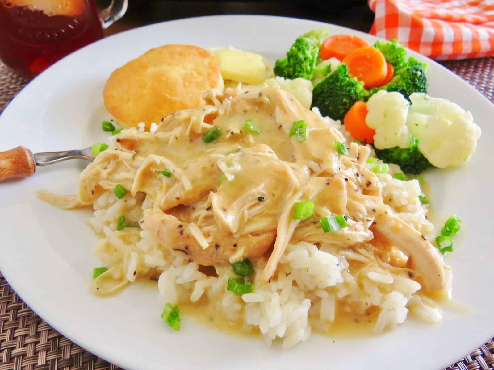 CROCK POT CHICKEN AND GRAVY #dinner #chicken #gravy #healthydinner #familyrecipes