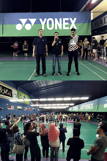 Datuk Misbun di Manjung Badminton Arena
