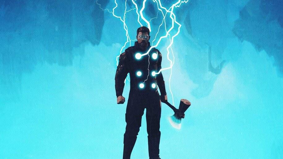 Thor, Lighting, Minimalist, Marvel, 4K, #6.1179
