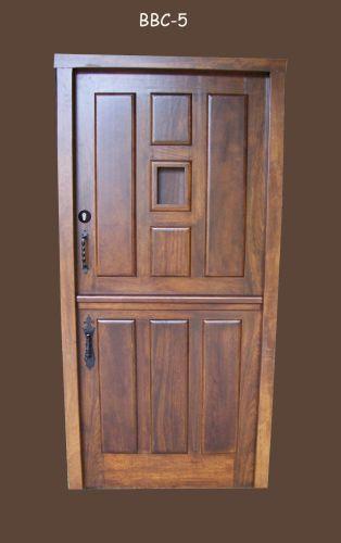 C mo decorar la casa puertas de entrada de madera rusticas - Puertas exterior leroy ...
