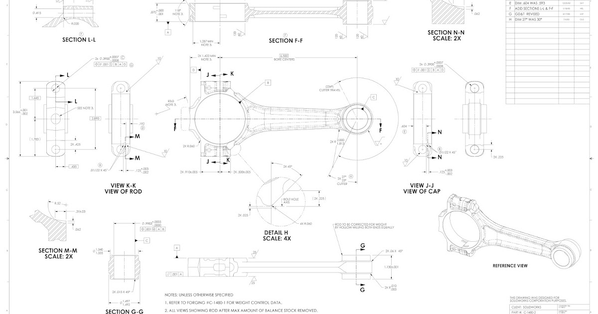 Mechanical Parts Drawing for practice ~ KNOW-ME