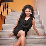 Vishnu Priya hot wallpapers in black mini skirt