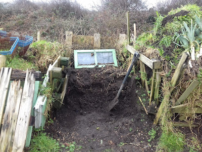 Allotment Growing - Pallet Compost Bin