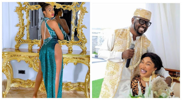 Prince kpokpogri has so much of your sex tapes in his possession - Tonto Dikeh alerts dancer, Janemena, as she responds to N10 billion lawsuit filed against her by Prince Kpokpogri