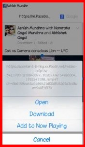 How to download facebook video by iphone