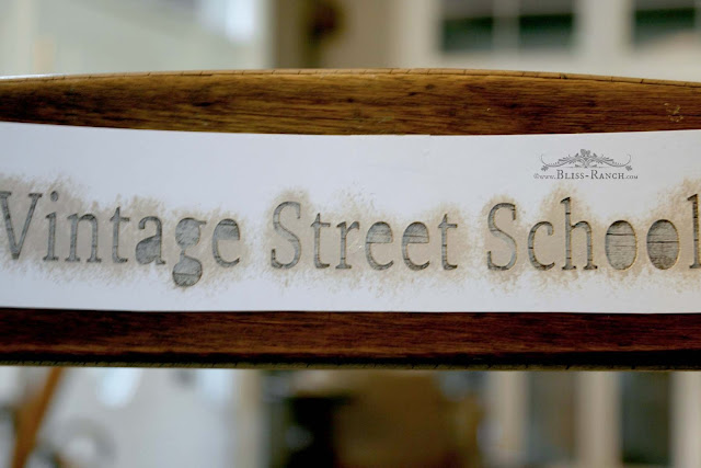 Vintage Street School Vintage Childs Chair Bliss-Ranch.com
