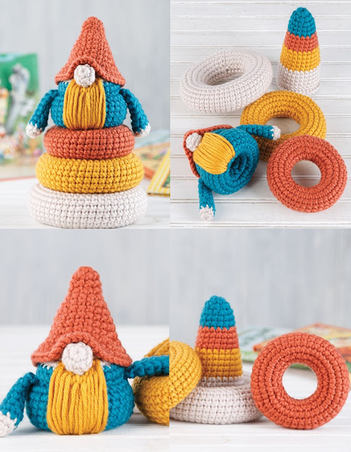 Crochet Stackable Gnome Pattern