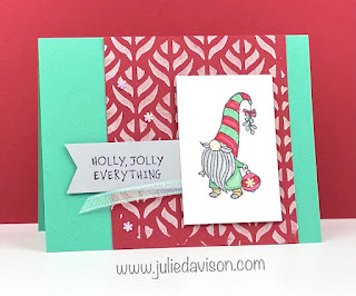 Stampin' Up! Gnome for the Holidays Christmas Card + Video with Embossing Paste Tips ~ www.juliedavison.com #stampinup