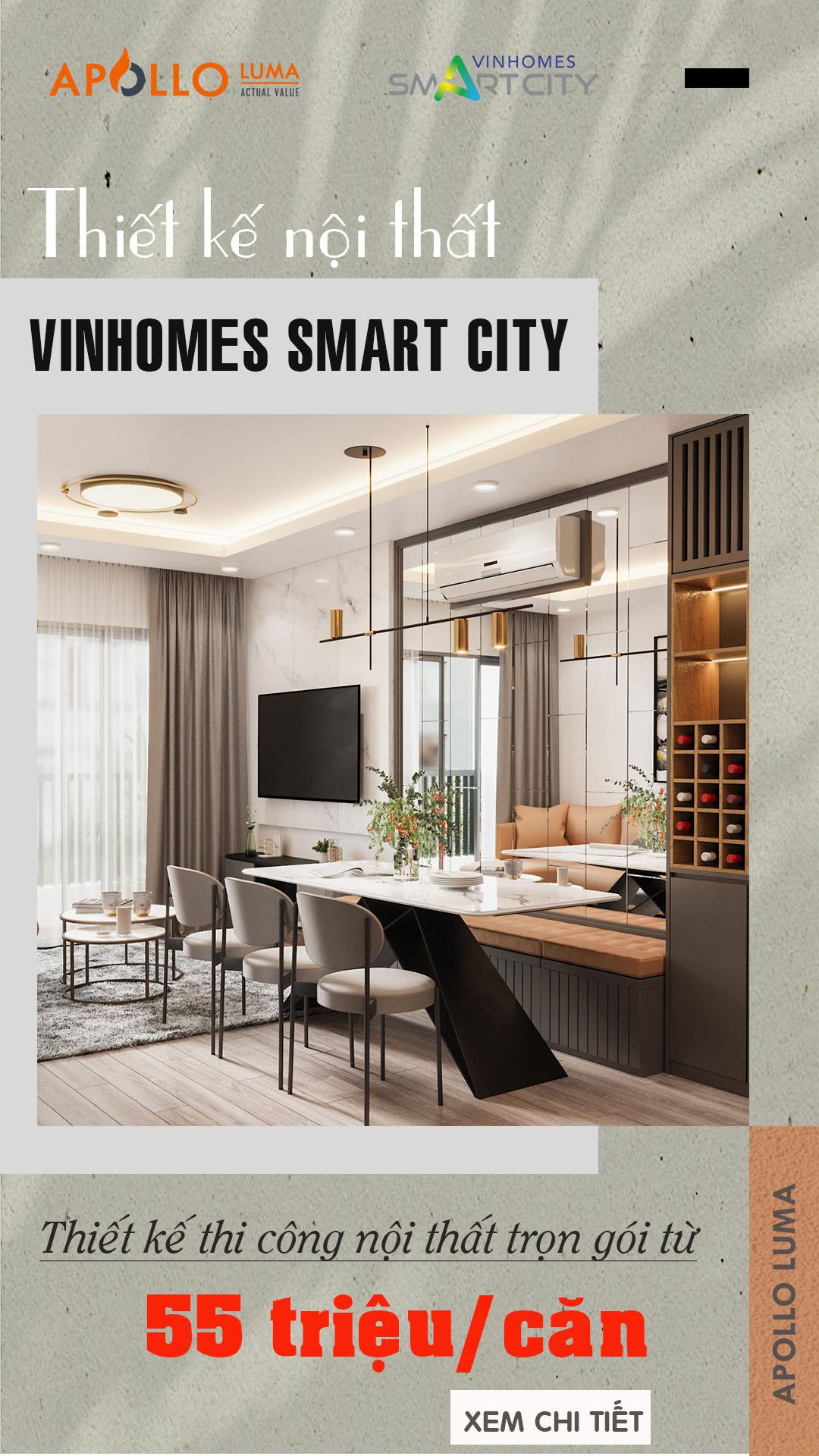 thiết kế nội thất vinhomes smart city