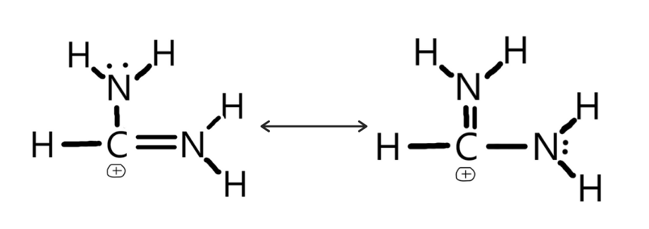 Lewis Dot Structure of CH(NH2)2+