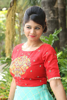 Lucky Shree Looks super cute in Bright Red Green Anarkali Dress ~  Exclusive 039.JPG