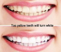 this trick make Yellow teeth will become white