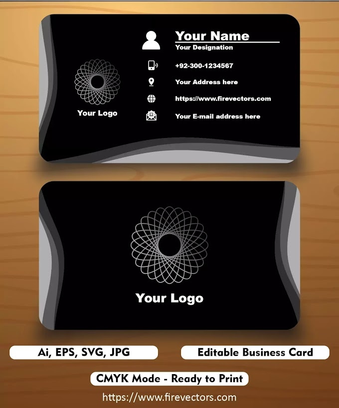 Premium Business Card Template AI - 11