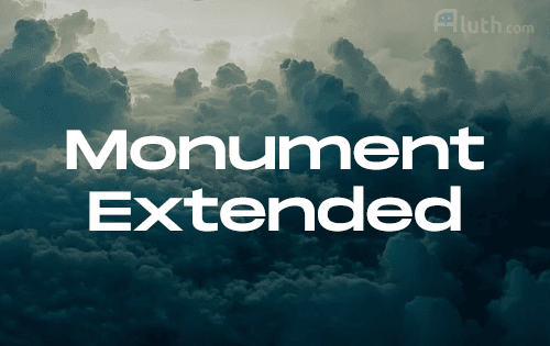 Monument Extended english font