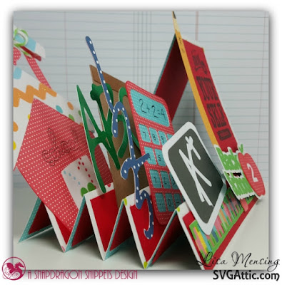 The Crafting Cave SVG Attic Back To School Step Card