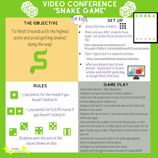Distance Learning Game for Video Conferences