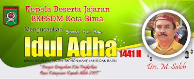 Kepala Beserta Jajaran BKPSDM  Kobi Mengucapkan Selamat Hari Raya Id Adha 1441 Hijriyah